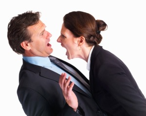 Disagreement - business professionals arguing over some business problems